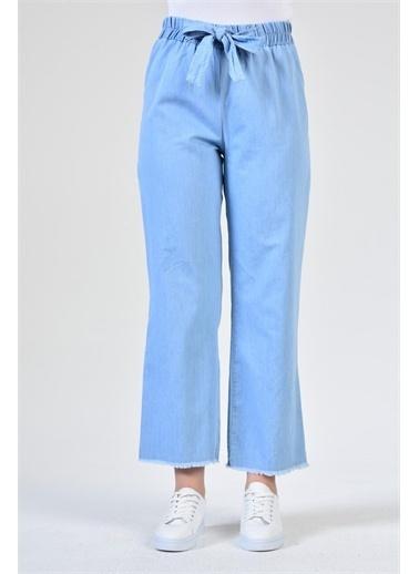 Rodi Jeans Kadın Denim Bol Paça Bel Lastikli Pantolon DS21YB016469 Mavi